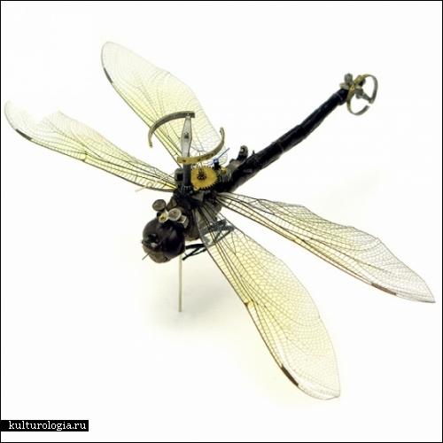 Скульптуры-роботы из насекомых. Работы студии Insect Lab и скульптора Майка Либби (Mike Libby)