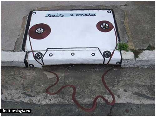 *Водосточный арт* от творческого тандема <B>6emeia</B> (Бразилия)