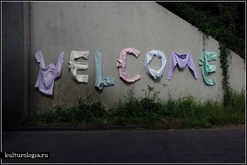 *Текстильное граффити* Томаса Ворна (Thomas Voorn)
