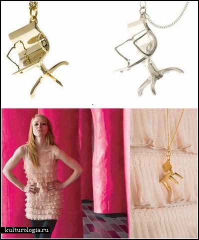 Винтажные стулья-кулоны Tiny little chairs