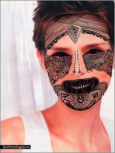 Арт-проект Tribal masks для журнала I Want You