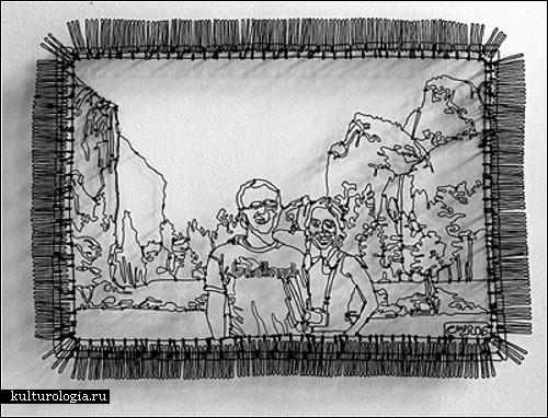 Эти работы созданы Sonny Rolle из Род-Айленда, а сделаны они из гибкой изолированной проволоки.
