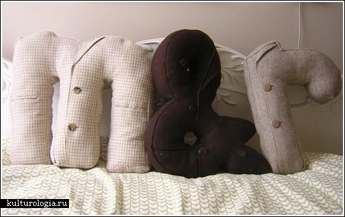 Как сшить подушку букву своими руками фото