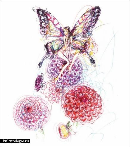 Картины, нарисованные фломастером, от Antoinette Fleur