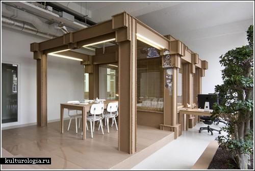 Картонный офис от фирмы «Ничто» из Голландии