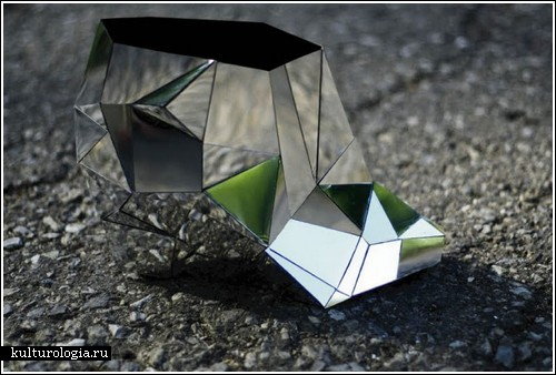 Из бумаги на стекло