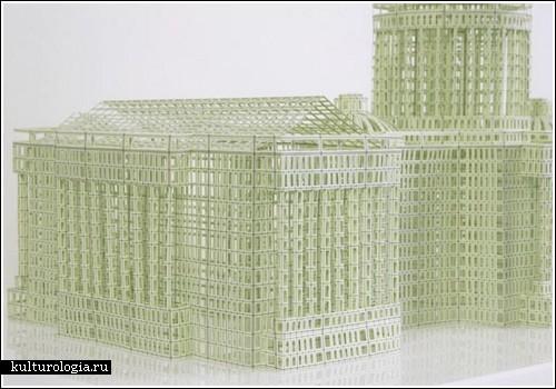 Главные здания Америки из бумаги (Jill Sylvia)