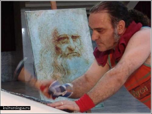 Портрет Леонардо да Винчи из гвоздей