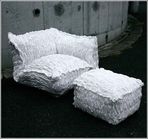 Бумажная мебель от Tokujin Yoshioka