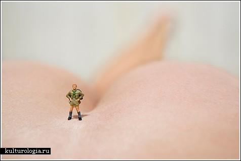 Фигурки на человеческом теле - фотографии от Vincent Bousserez