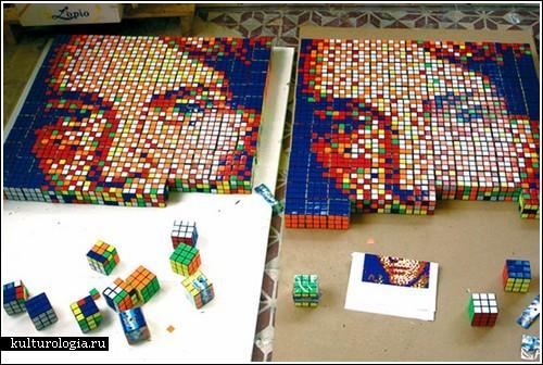 Картины из Кубика Рубика
