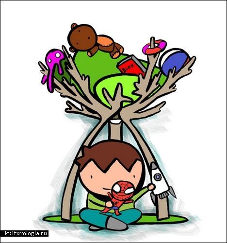 Шалаш в доме – рай для ребенка