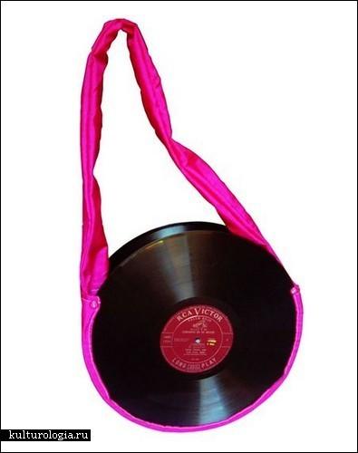 Ретро-сумки из виниловых пластинок