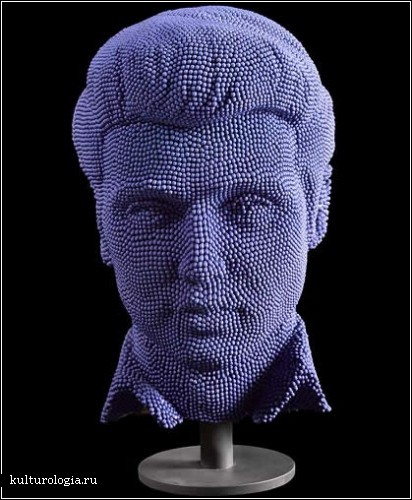 Элвис: скульптура из 50 000 спичек