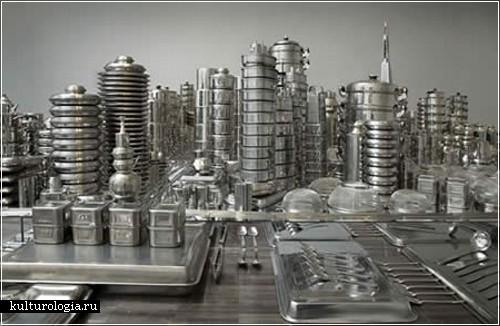 Сан-Франциско из кухонной посуды