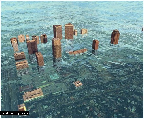 Картины затонувшего Нью-Йорка от художника Алекса Лукаса (Alex Lukas)