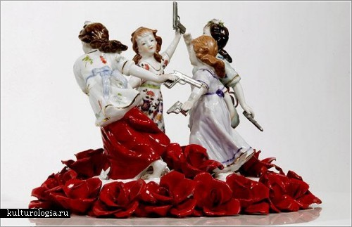Скульптурные инсталляции от Барнаби Барфорда  (Barnaby Barford)