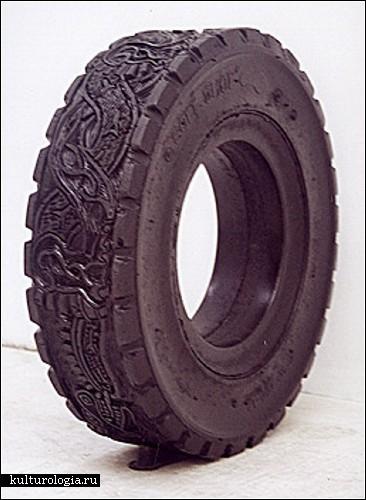 Узорчатые шины мексиканской художницы Бетсабе Ромеро (Betsabee Romero)