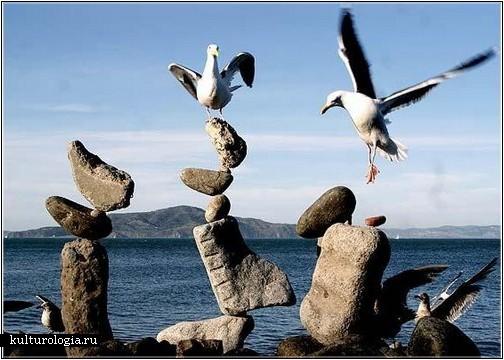 Каменные балансирующие башни Билла Дана (Bill Dan)