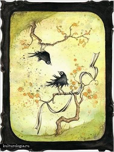 Картины, нарисованные акварелью от Леонтины  Гринберг (Leontine Greenberg)