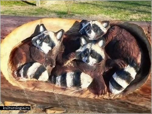 Деревянные скульптуры Рэндалла Д.Бони  (Randall D.Boni)