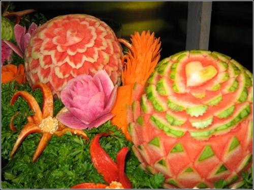 Карвинг – искусство декоративной резьбы по овощам и фруктам