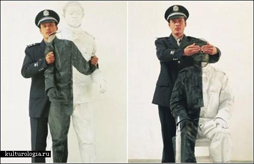 «Прятки в Китае» - городской камуфляж китайского художника Liu Bolin