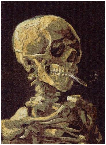 Череп с сигаретой, 2007 (Фотограф Chris Jordan)