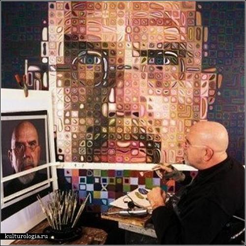Фотореалистические портреты художника Чака Клоуза (Chuck Close)