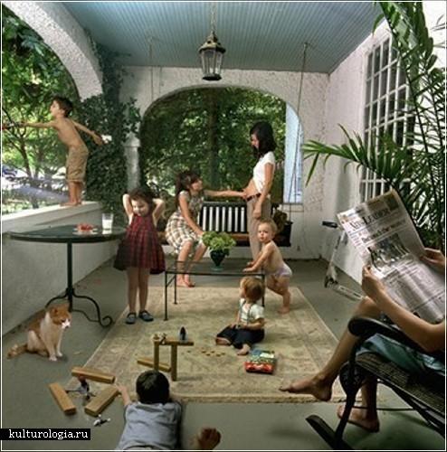 «Domestic Vacations»- серия фоторабот о детях из больших семей американского фотографа Джули Блэкмон  (Julie Blackmon)
