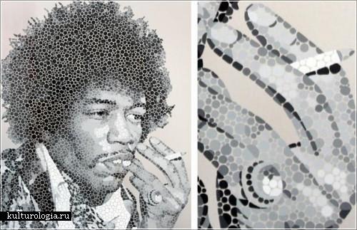 Точечные портреты Пола Норманселла (Paul Normansell)