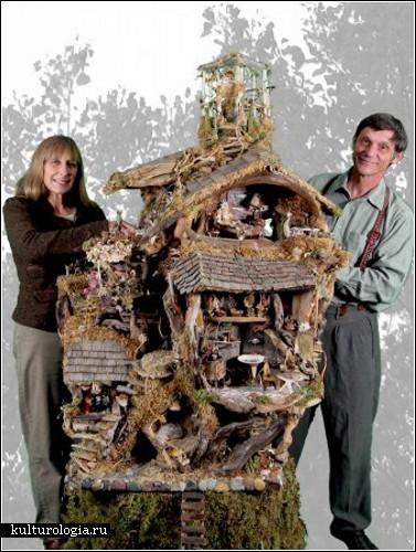 Домики для фей от художницы Дебби Шрамер (Debbie Schramer)