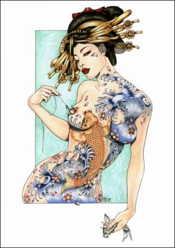 Художественный проект «Geisha Project» от Zoe Lacchei