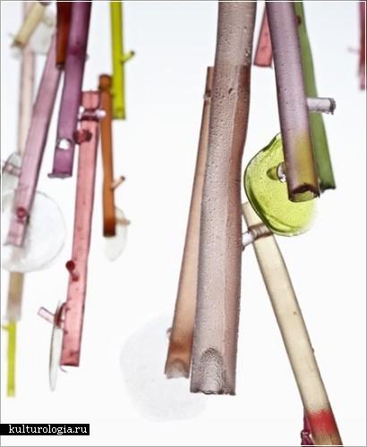 Инсталляция из леденцов  от Marieke van der Bruggen