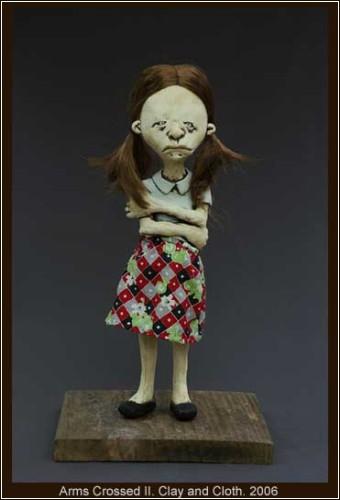 Глиняные скульптуры-куколки Лесли-Анны Грин (Lesley-Anne Green)