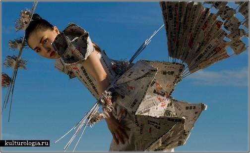 «Оденем новости»  - одежда из газет от дизайнера Елены Грегусовой