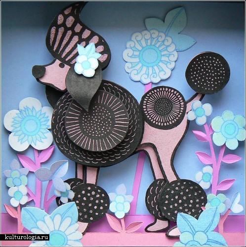 Бумажные картины-аппликации Хелены Масселвайт (Helen Musselwhite)