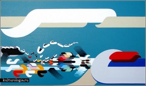 Абстрактный универсум японского художника Kenji Hirata