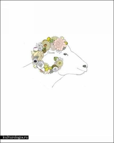 «Цветочные» иллюстрации американской художницы Кати Вернон (Katie Vernon)