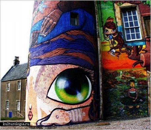 Граффити на стенах замка Kelburn