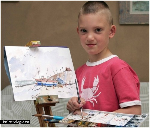 Картины шестилетнего Кирона Уилльямсона (Kieron Williamson), написанные акварелью