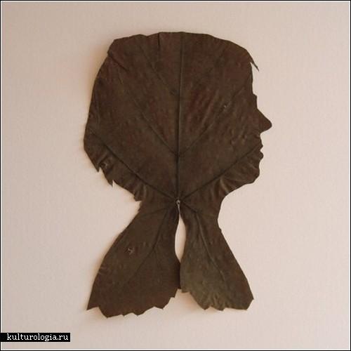 Силуэты из листьев художницы Дженни Ли Фаулер (Jenny Lee Fowler)