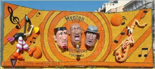 Фестиваль лимонов 2009 в Ментоне