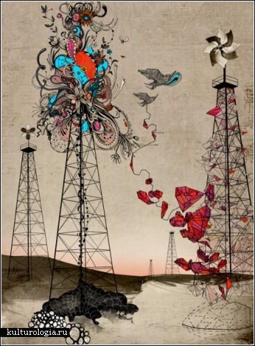 Сюрреалистические иллюстрации шведской художницы Линн Олофсдоттер (Linn Olofsdotter)