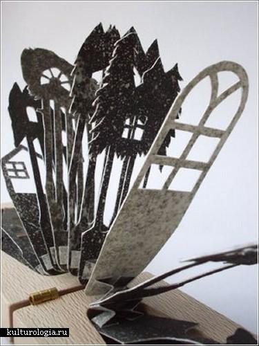Инсталляции из дерева и бумаги Лиззи Томас (Lizzie Thomas)