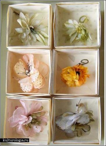 Бумажные цветы и украшения художницы  Lyndie Dourthe