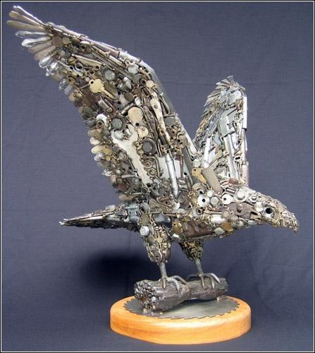 Скульптуры из металлолома от Joe Pogan