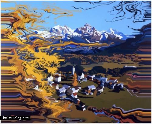 Новый вид пейзажной живописи от художницы Минако Абе (Minako Abe)