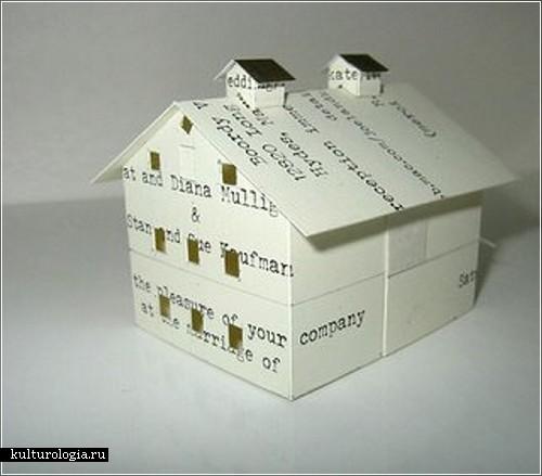 Миниатюрные здания из бумаги