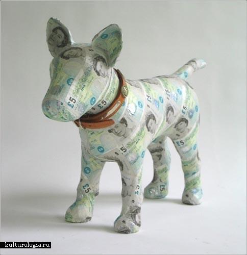 Денежные скульптуры от Justine Smith